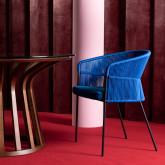 Chaise de Salle à manger en Velours et Corde Kila, image miniature 2