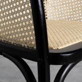 Chaise de Salle à manger en Bois et Rotin Naturel Fablem, image miniature 8