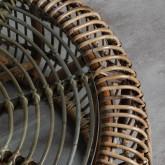 Table Basse Ronde en Rotin et Verre (Ø85 cm) Nilos, image miniature 3