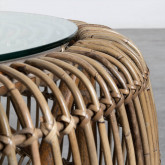 Table Basse Ronde en Rotin et Verre (Ø85 cm) Nilos, image miniature 5