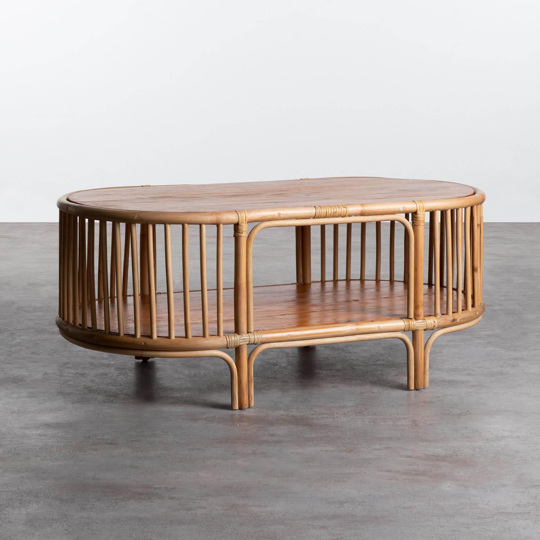 Table Basse Ovale en Rotin (110x60 cm) Tahiti, image de la gelerie 1