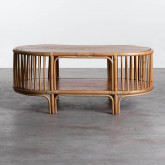 Table Basse Ovale en Rotin (110x60 cm) Tahiti, image miniature 4