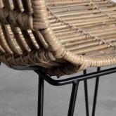 Chaise de Salle à manger en Rotin Naturel Nice, image miniature 6