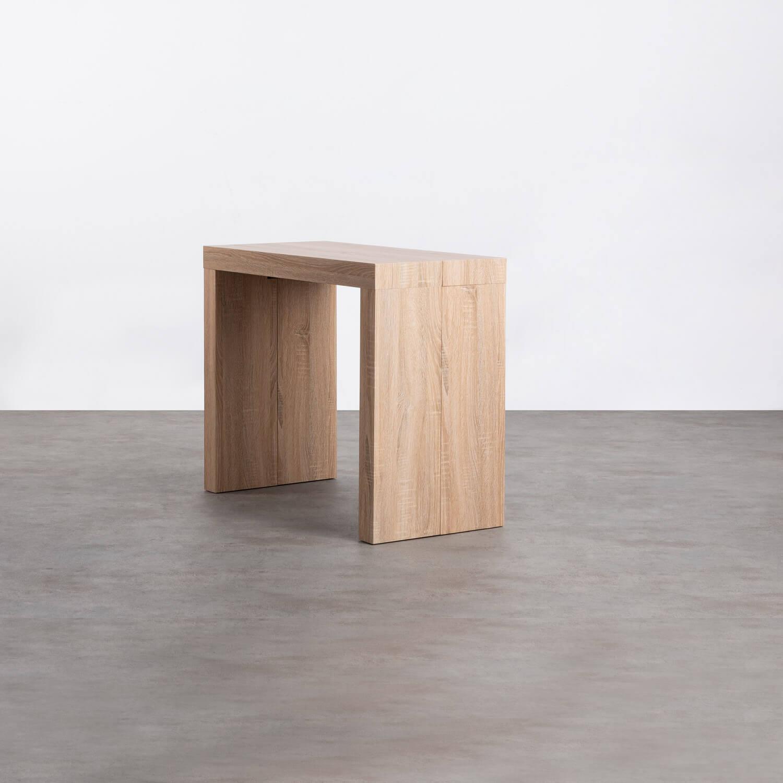 Table de Salle à manger Extensible en MDF (45,5-180,5x90 cm) GUEST Rustic, image de la gelerie 1