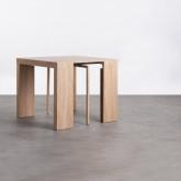 Table de Salle à manger Extensible en MDF (45,5-180,5x90 cm) GUEST Rustic, image miniature 3