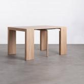 Table de Salle à manger Extensible en MDF (45,5-180,5x90 cm) GUEST Rustic, image miniature 4