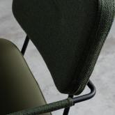 Chaise de Salle à manger en Similicuir et Tissu Lola, image miniature 5