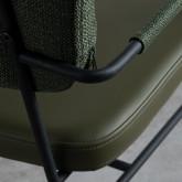 Chaise de Salle à manger en Similicuir et Tissu Lola, image miniature 6