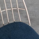 Chaise de Salle à manger en Tissu et Métal Silas, image miniature 4