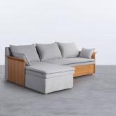 Canapé-lit avec angle à gauche 3 Places en Tissu Nato, image miniature 1