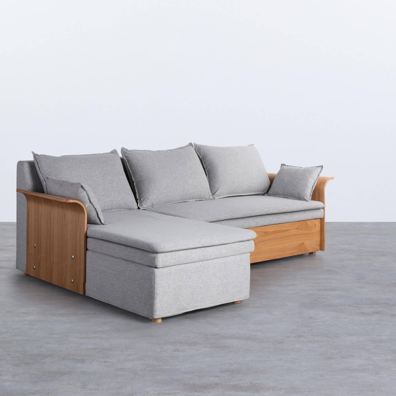 Canapé-lit avec angle à gauche 3 Places en Tissu Nato, image de la gelerie 1