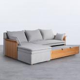 Canapé-lit avec angle à gauche 3 Places en Tissu Nato, image miniature 4