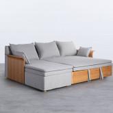 Canapé-lit avec angle à gauche 3 Places en Tissu Nato, image miniature 5