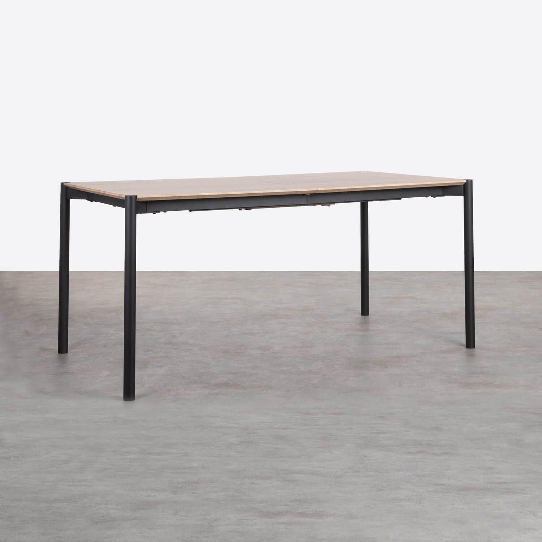 Table de Salle à manger Extensible en MDF et Métal (160-200x90 cm) Arbo, image de la gelerie 1