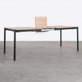 Table de Salle à manger Extensible en MDF et Métal (160-200x90 cm) Arbo, image miniature 5