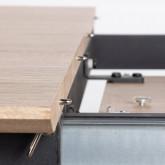 Table de Salle à manger Extensible en MDF et Métal (160-200x90 cm) Arbo, image miniature 11