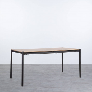 Table de Salle à manger Extensible en MDF et Métal (160-200x90 cm) Arbo