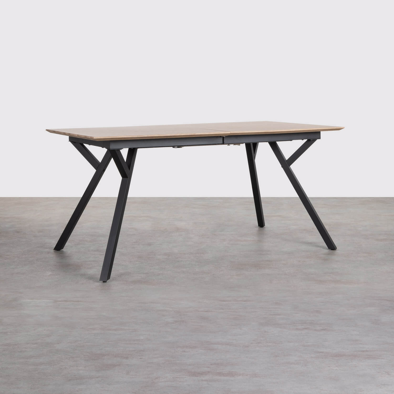 Table de Salle à manger Extensible en MDF et Métal (160-200x90 cm) Vedra, image de la gelerie 1