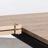 Table de Salle à manger Extensible en MDF et Métal (160-200x90 cm) Vedra, image miniature 10