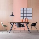 Table de Salle à manger Extensible en MDF et Métal (160-200x90 cm) Vedra, image miniature 3