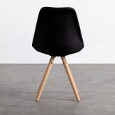 Chaise de Salle à manger en Tissu et Bois Stella Round Total Fabric, image miniature 3