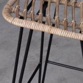 Tabouret Haut en Rotin Naturel Italia (66 cm), image miniature 7