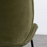 Chaise de Salle à manger en Velours et Acier Linus, image miniature 5