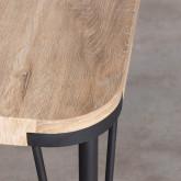 Table de Salle à manger Rectangulaire en MDF et Métal (180x90 cm) Brely, image miniature 5