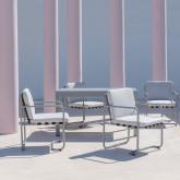 Chaise d'Extérieur en Aluminium et Tissu Paradise, image miniature 2