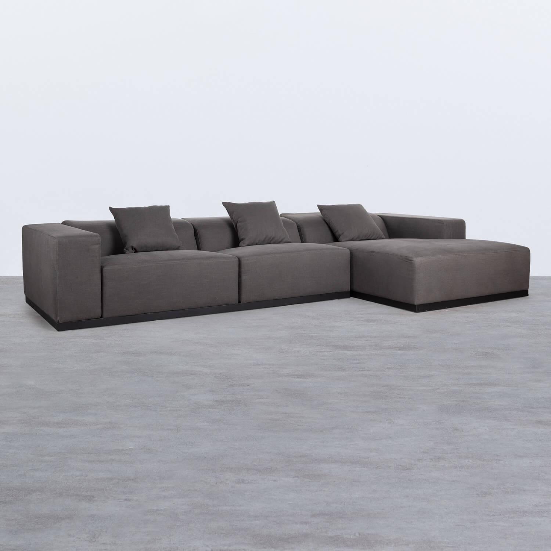 Canapé d'angle à Droit 4 Places en Tissu Tamam, image de la gelerie 1