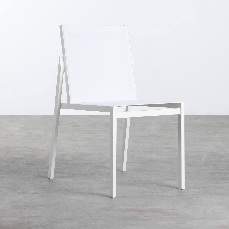 Chaise d'Extérieur en Aluminium et Textilène Beldin, image de la gelerie 1