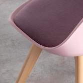Chaise de Salle à Manger en Polypropylène et Tissu Fine Freya Fabric , image miniature 4