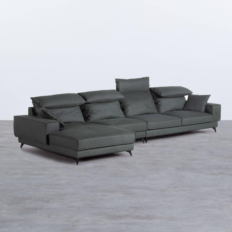 Canapé d'angle à Gauche 4 Places en Nobuck Textil Goldin, image de la gelerie 1