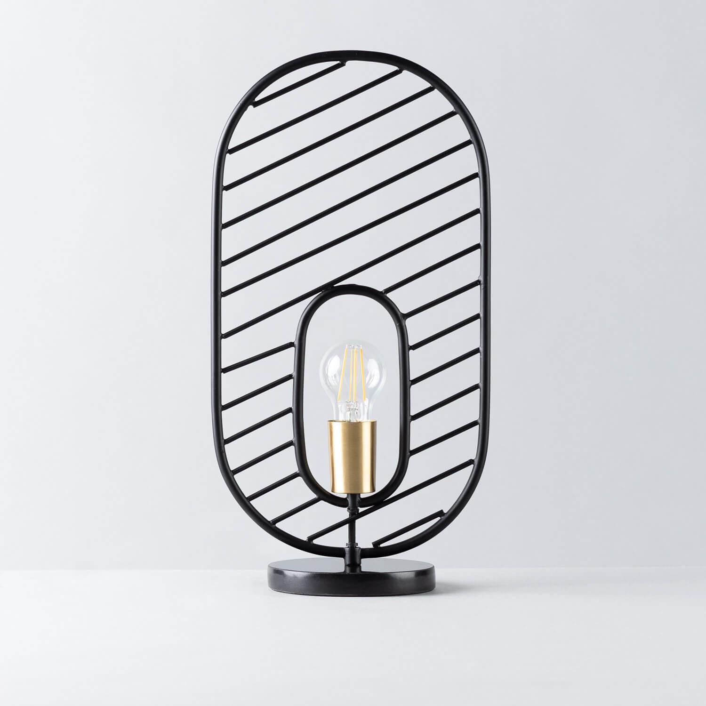 Lampe de Table en Acier et Marbre Nima, image de la gelerie 1