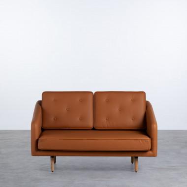 Canapé 2 Places en Tissu ou Similicuir Tuk