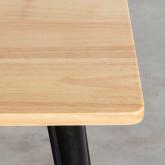 Table de Salle à Manger Carrée en Bois et Acier (80x80 cm) Industriel Fino, image miniature 3