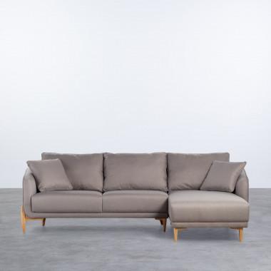 Canapé d'angle à Droite 4 Places en Tissu Rhemet