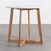 Table de Salle à manger Ronde en MDF et Bois (Ø80 cm) Tabit, image miniature 1