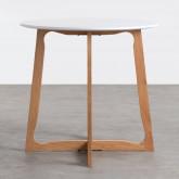 Table de Salle à manger Ronde en MDF et Bois (Ø80 cm) Tabit, image miniature 2