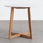 Table de Salle à manger Ronde en MDF et Bois (Ø80 cm) Tabit, image miniature 3