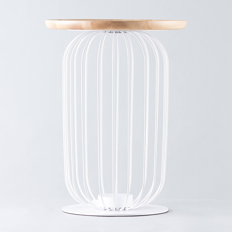 Lampadaire LED en Bois et Métal Gabi, image de la gelerie 1