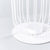 Lampadaire LED en Bois et Métal Gabi, image miniature 4