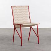 Chaise d'Extérieur en PVC et Acier Aki, image miniature 1