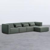 Canapé Modulaire avec Pouf en Nobuk Kilhe, image miniature 1