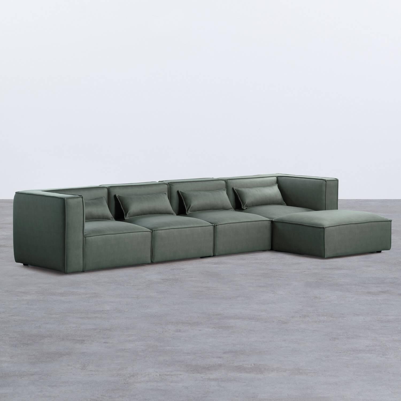 Canapé Modulaire avec Pouf en Nobuk Kilhe, image de la gelerie 1