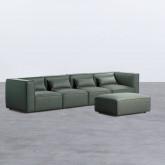 Canapé Modulaire avec Pouf en Nobuk Kilhe, image miniature 2