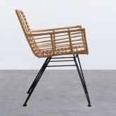 Chaise en Rotin Synthétique ABEIGE, image miniature 2
