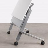 Bureau Pliable avec Roulettes PVC et Acier Bastid, image miniature 7
