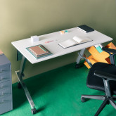 Bureau Pliable avec Roulettes PVC et Acier Bastid, image miniature 2