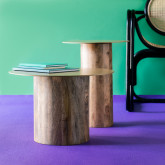 Set de 2 Tables d'Appoint en Bois et Métal Erza , image miniature 2